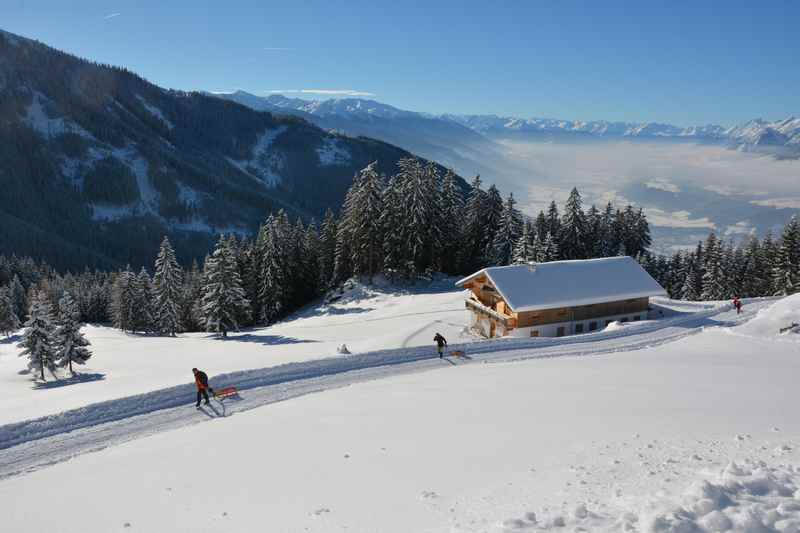 Rodeln in der Silberregion Karwendel - viele aussichtsreiche Rodelbahnen in Tirol