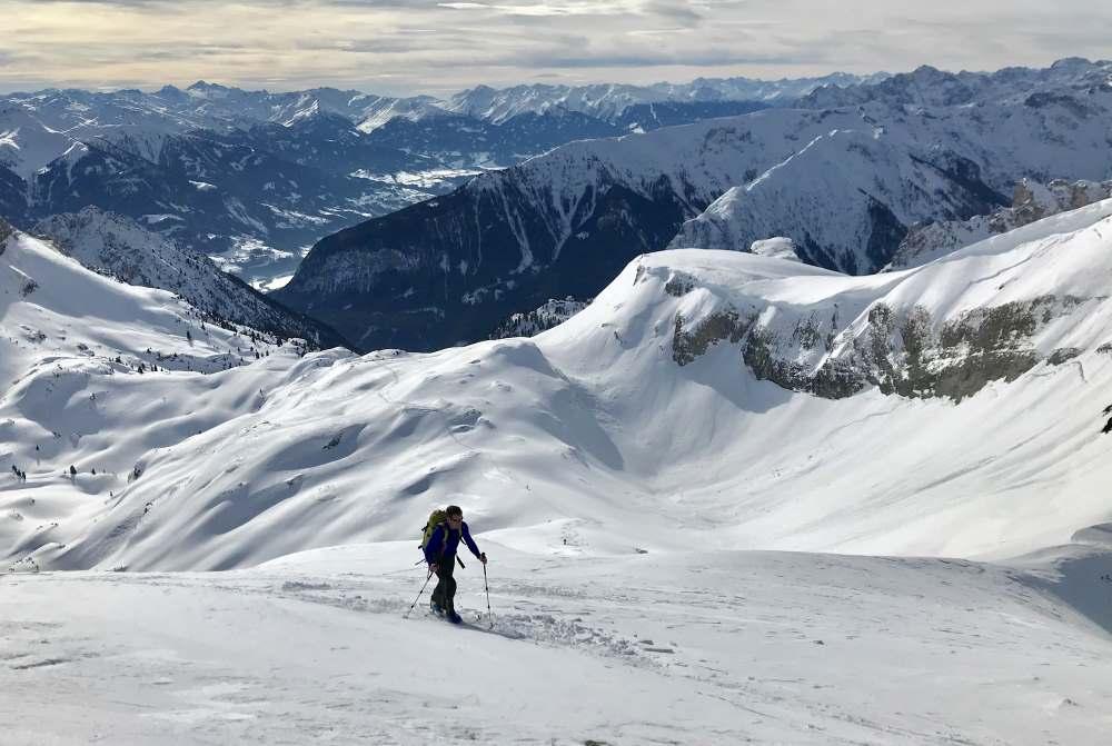 Im Winter mag ich diese aussichtsreichen Skitouren im Rofan