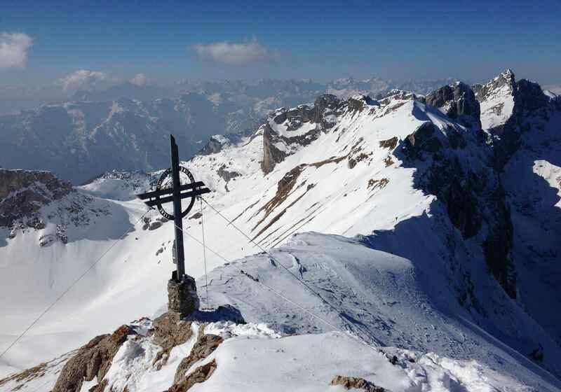 Die Rofanspitze im Winter- mit wunderschönem Panorama bis zum Karwendel