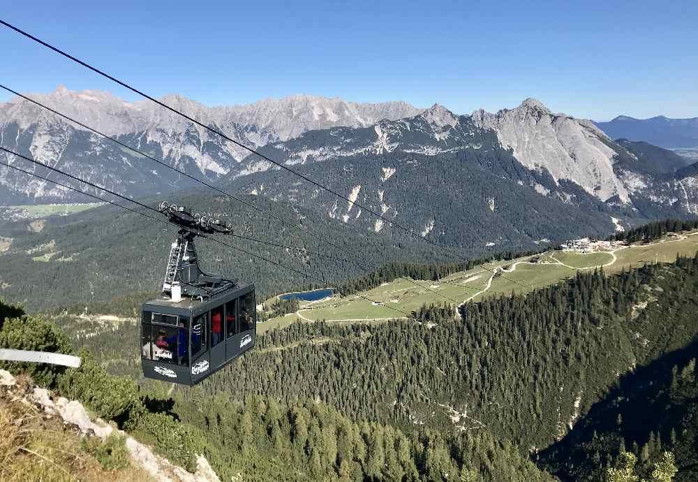 Rosshütte Seefeld: Mit der Bergbahn hinauf ins Karwendel - ein Traum oder?