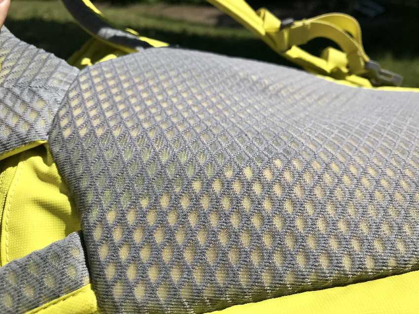 Atmungsaktiver Rücken beim Salewa Rucksack