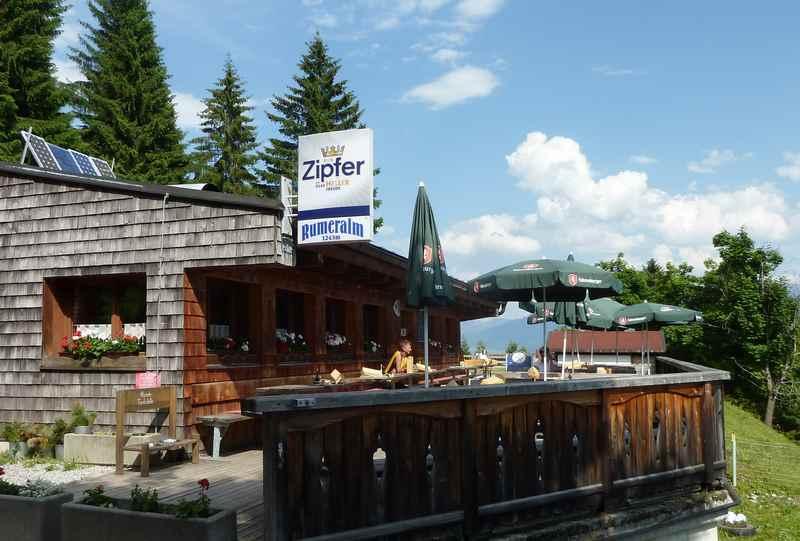 Zur Rumer Alm mountainbiken in Innsbruck im Karwendel