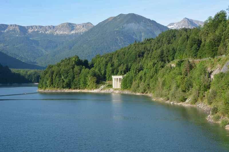 Das heutige Wanderziel ist der Scharfreiter oder Schafreuter hinter dem Sylvensteinsee im Karwendel