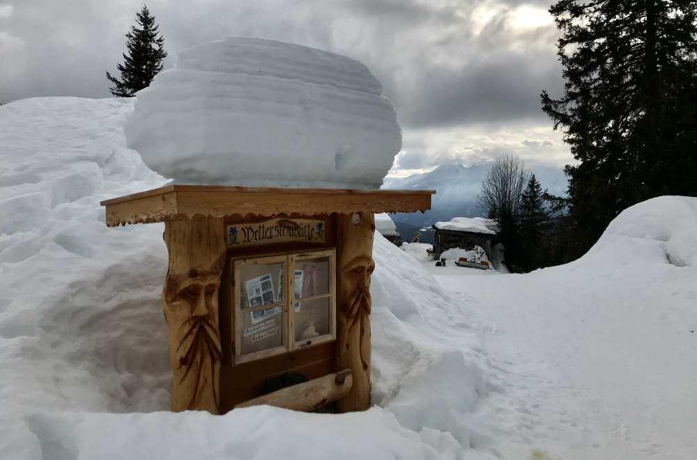 Leutasch Winterwandern - zur Wettersteinhütte, mit dieser tollen Schneelandschaft
