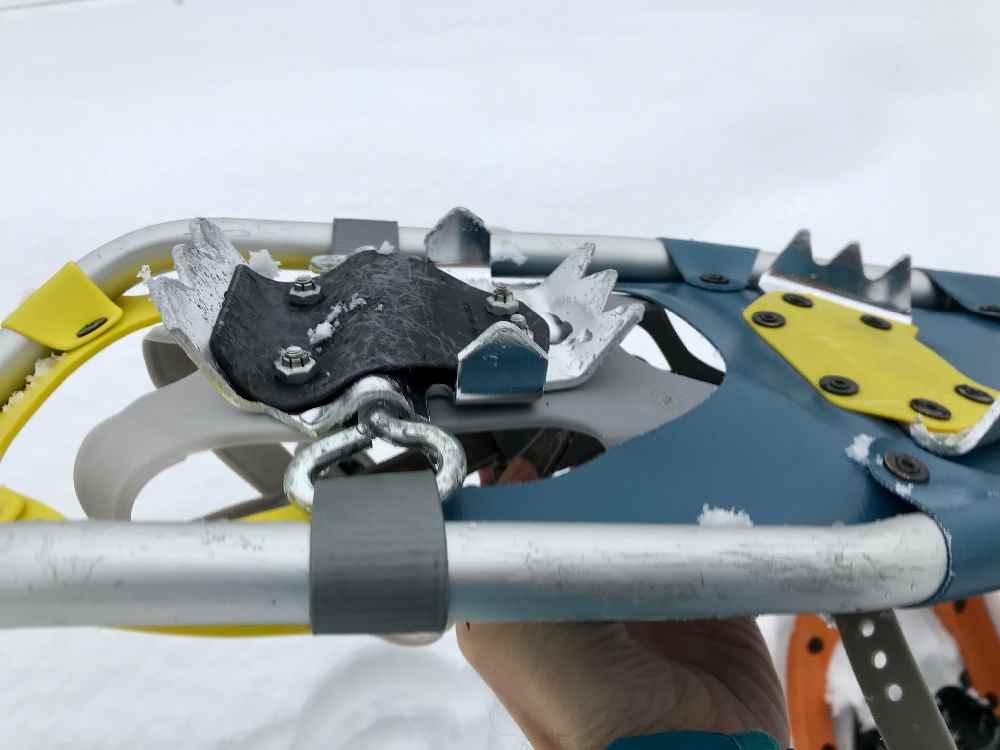 Das ist ein älteres Modell der Tubbs Schneeschuhe - geht auch, aber mit den neuen TUBBS hast du mehr Halt