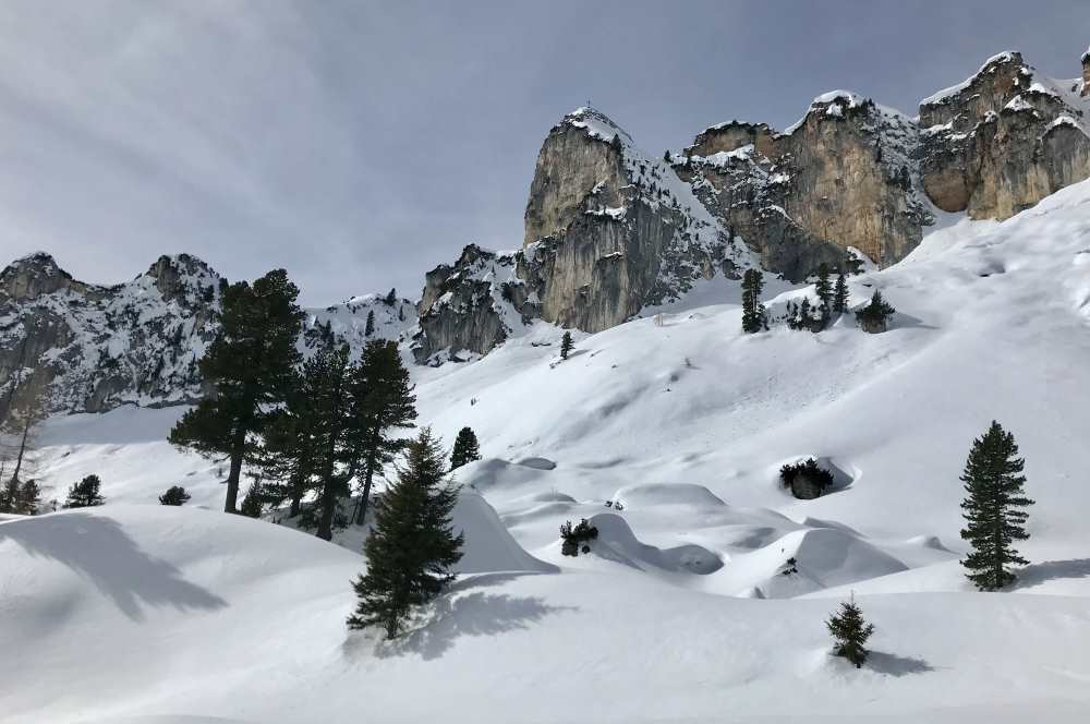Beste Bedingungen zum Schneeschuhwandern: Im Rofan in Tirol