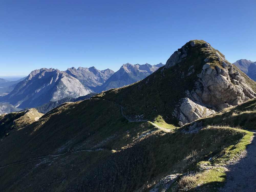 Von der Rosshütte Seefeld über den Schönangersteig zur Seefelder Spitze wandern