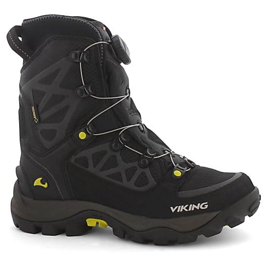 Hier siehst du ganze Höhe des Schuhs samt Drehverschluß - gute  Schuhe für Schneeschuhe