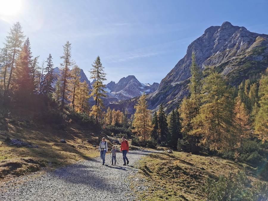 Echt schöne Seefeld Wanderung im Herbst: Die gefärbten Lärchen unterhalb vom Seebensee in Tirol