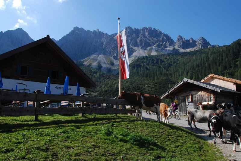Seefeld Sommer: Die Eppzirler Alm im Karwendelgebirge