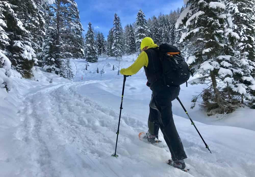 Diesen Schneeschuhwanderer habe ich im Satteltal bei Leutasch getroffen