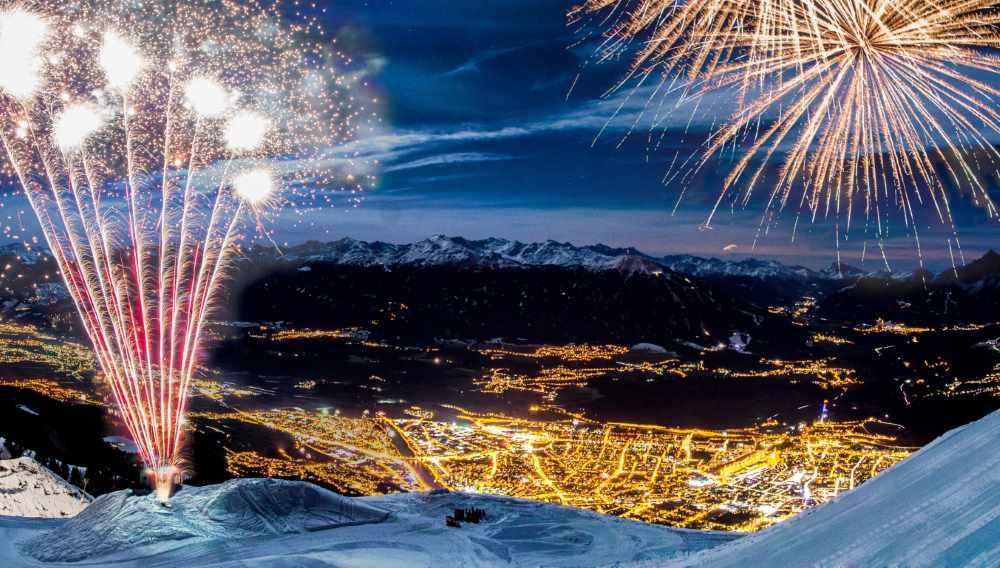 Das Innsbrucker Bergsilvester oberhalb der Hungerburg auf der Nordkette bei der Seegrube, Foto: Innsbruck Tourismus