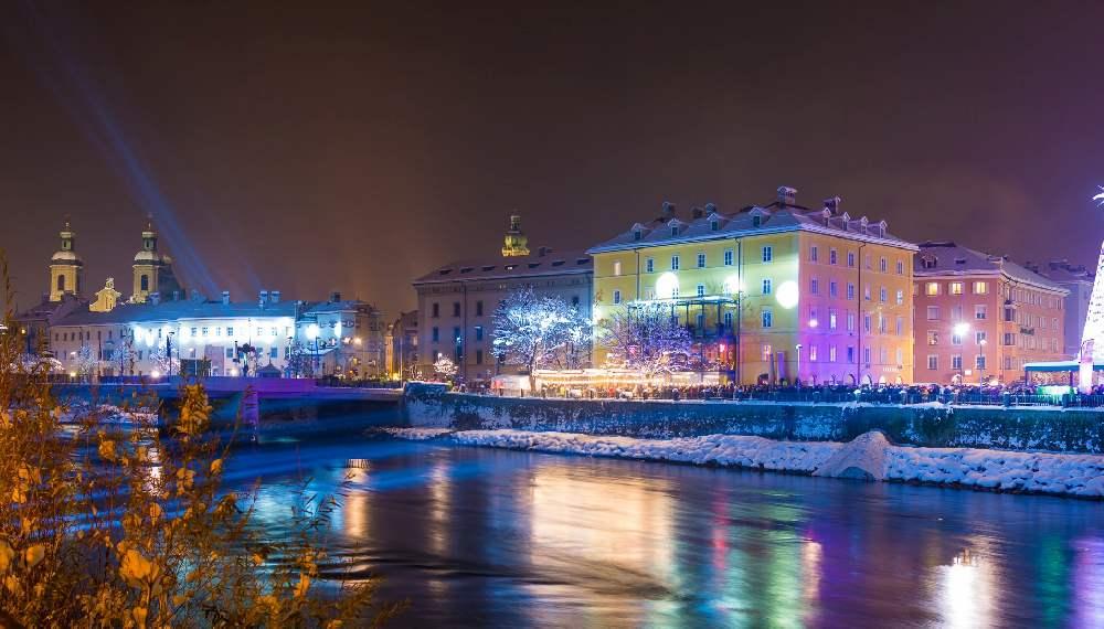 Silvester feiern in Innsbruck - hier am Inn, Foto: Martin Gassler