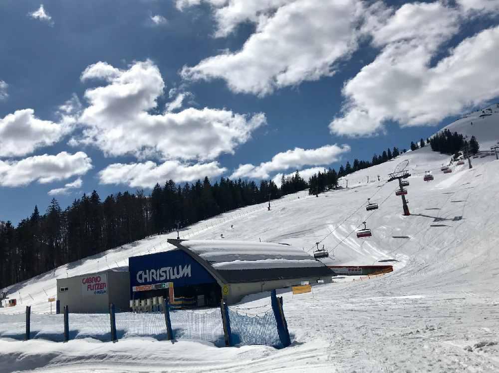 Das ist der obere Bereich im Skigebiet Christlum