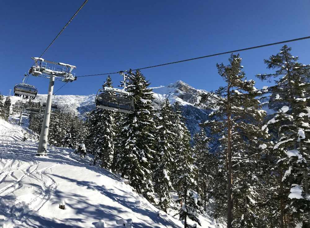 Frischer Schnee im Skigebiet Seefeld - was für ein Tag!