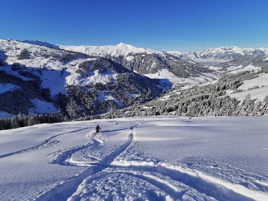 Skitouren Alpbachtal - ein genuß bei Neuschnee!