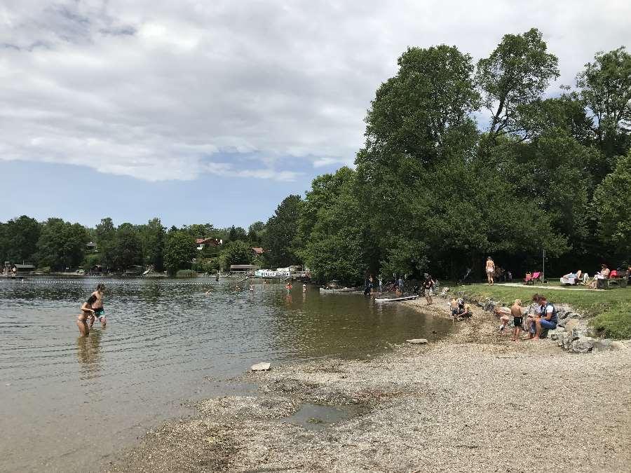 Wo am Staffelsee baden? - hier die Murnauer Bucht