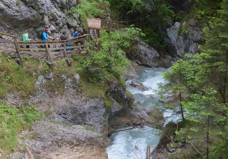 In Stans wamdern: Der Klammsteig durch die Wolfsklamm im Karwendel