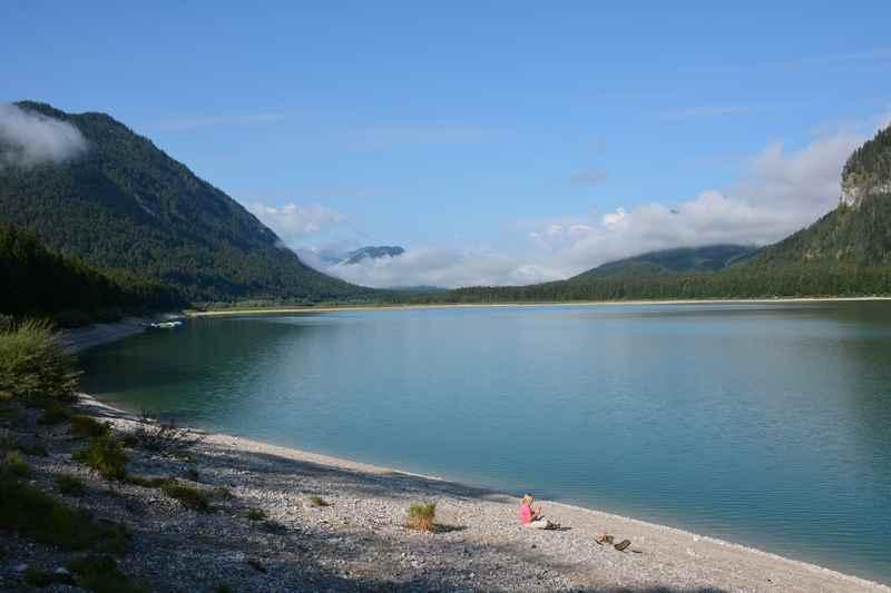 Auf dem Isarradweg zum Sylvensteinsee