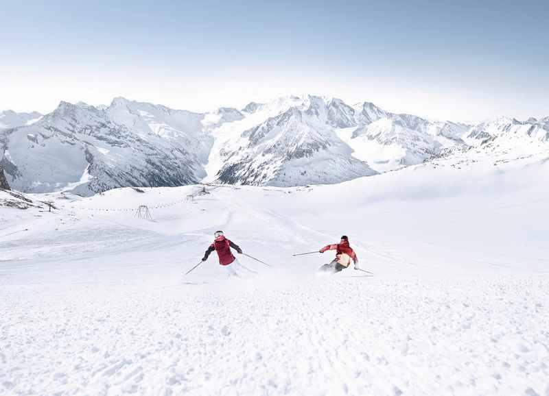 Skigebiet Tux:  Zum Skifahren nach Tux oder Hintertux auf den Gletscher, bekanntes Skigebiet im Zillertal, Foto TVB