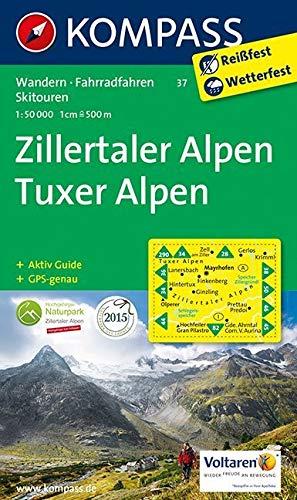 Die Tuxer Alpen Karte