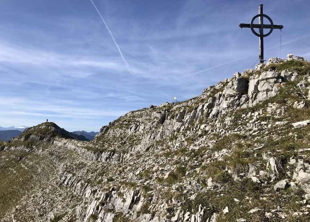 Karwendel Berge - die Gipfel sind brüchig, wie hier auf der Seekarspitze