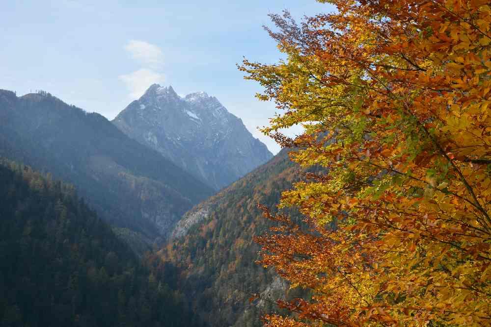 Vomper Loch wandern - eine farbenreiche Herbstwanderung