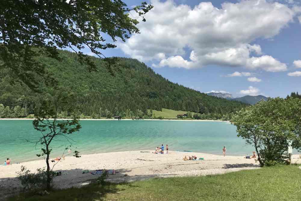 Im Walchensee baden - Karibikflair in Bayern