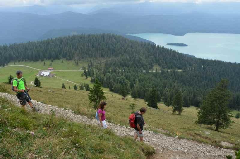 Oberhalb von der Jachenau wandern am Walchensee - eine der meistfrequentierten Wanderungen