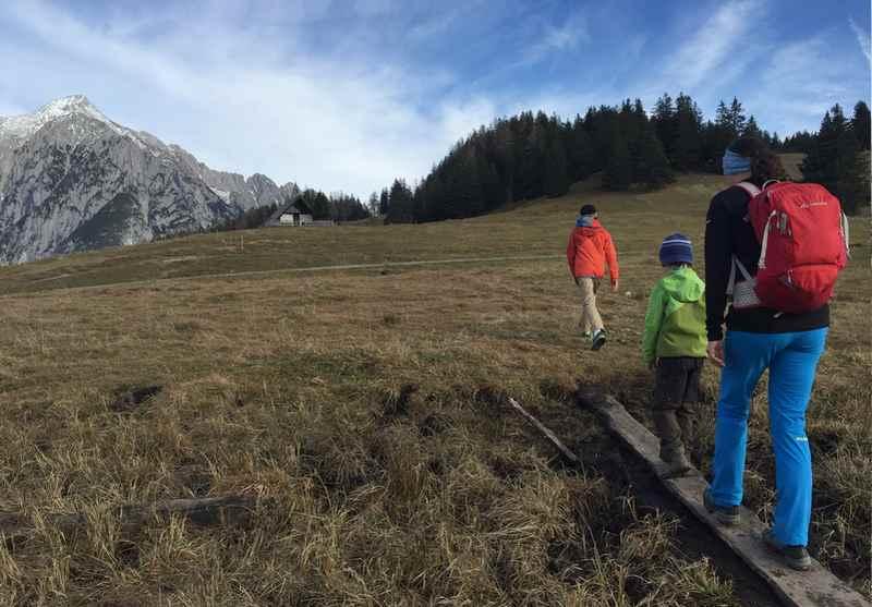 Auf die Walderalm wandern mit Kindern im Karwendel