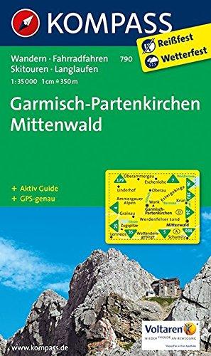 Mittenwald Karte - Diese Wanderkarte von Mittenwald verwende ich bei meinen Touren.