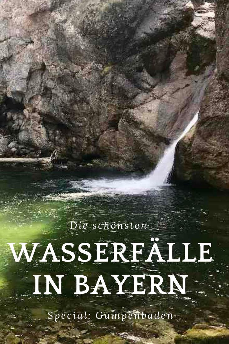 Merk dir diesen Pin und finde meine Tipps für die schönsten Wasserfälle in Bayern wieder!