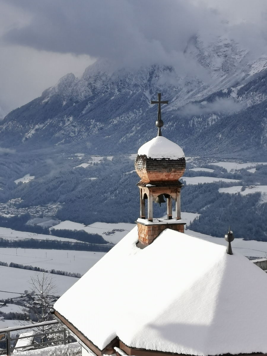 Winter in Weerberg Tirol - mit Blick auf das Karwendel