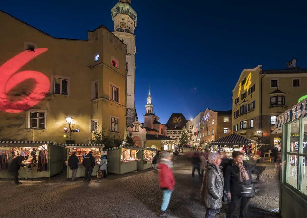 So schön romantisch ist es am Adventmarkt in Hall in Tirol, Bild: Gerhard Berger