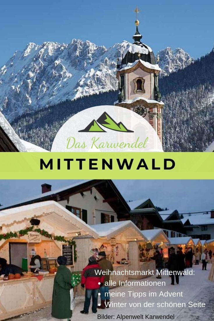 Der Weihnachtsmarkt Mittenwald in der Ballenhausgasse, Foto: Alpenwelt Karwendel