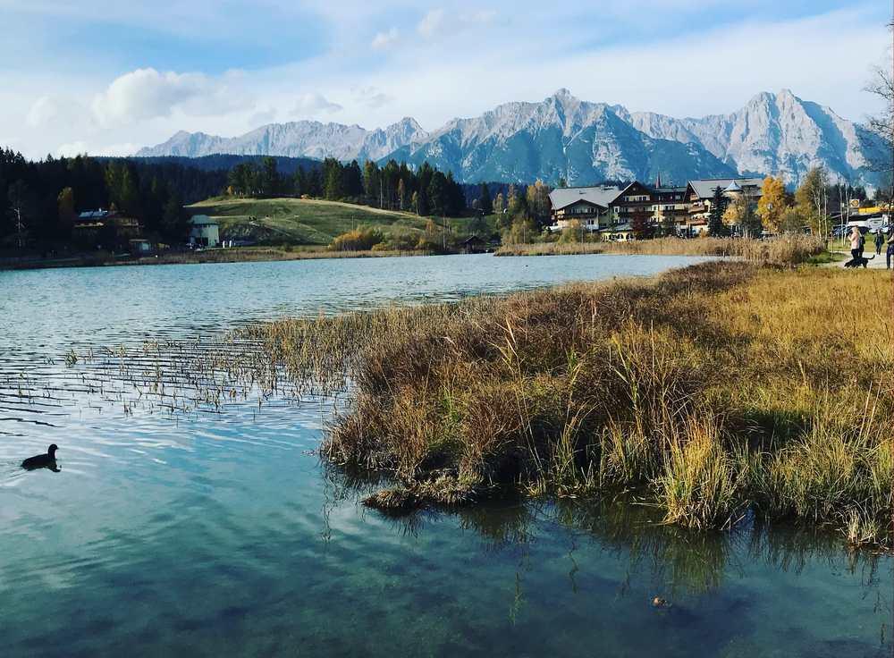 Das war unsere Wanderung mit Kindern von Seefeld auf den Brunschkopf - mit diesem Ausblick auf das Wettersteingebirge.