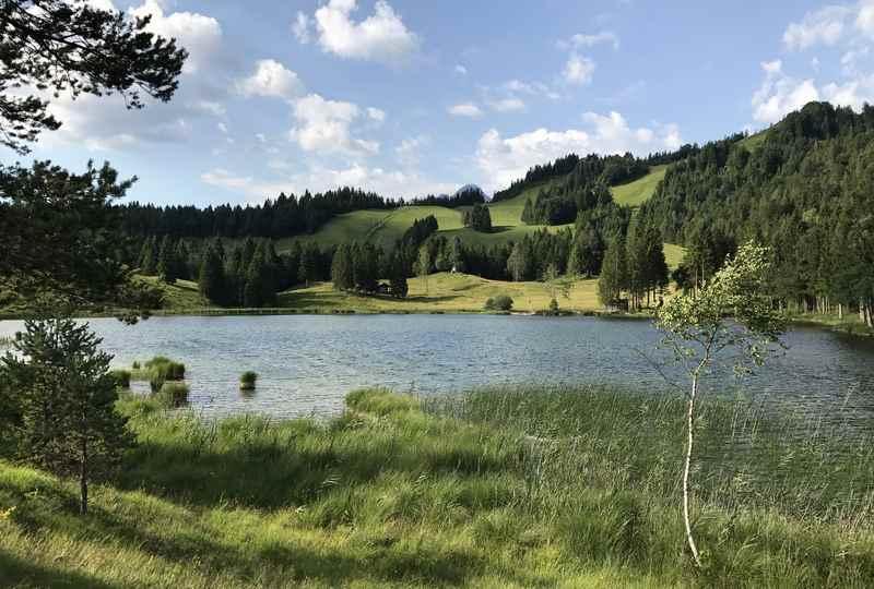 Der Bergsee im Karwendel ist wunderschön
