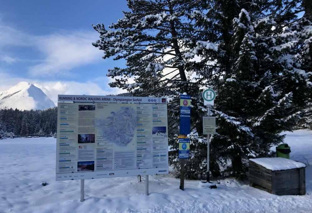 Winterwanderung Seefeld: Bis Wildmoos fährt der Bus im Winter ab Seefeld