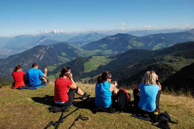 Von Wildschönau wandern zur Gratlspitze in den Kitzbüheler Alpen