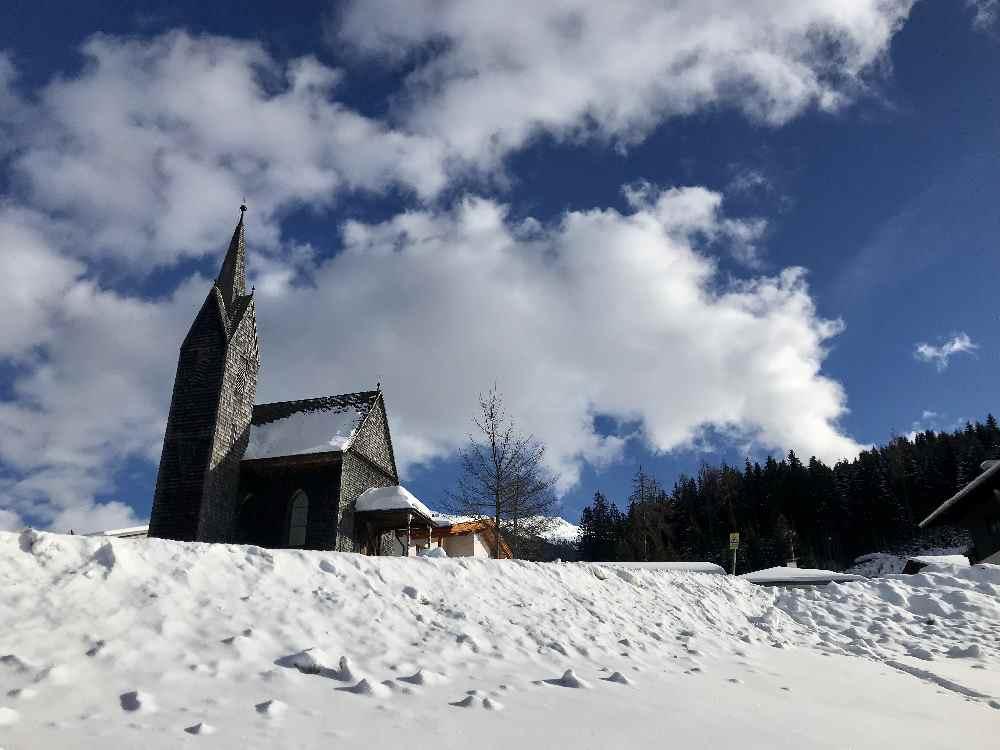Die Windeggkapelle bei Tulfes, direkt neben der Glungezer Skitourenroute