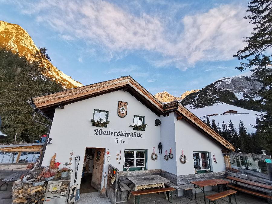 Der Seefeld Winter auf der Wettersteinhütte - beim Sonnenaufgang