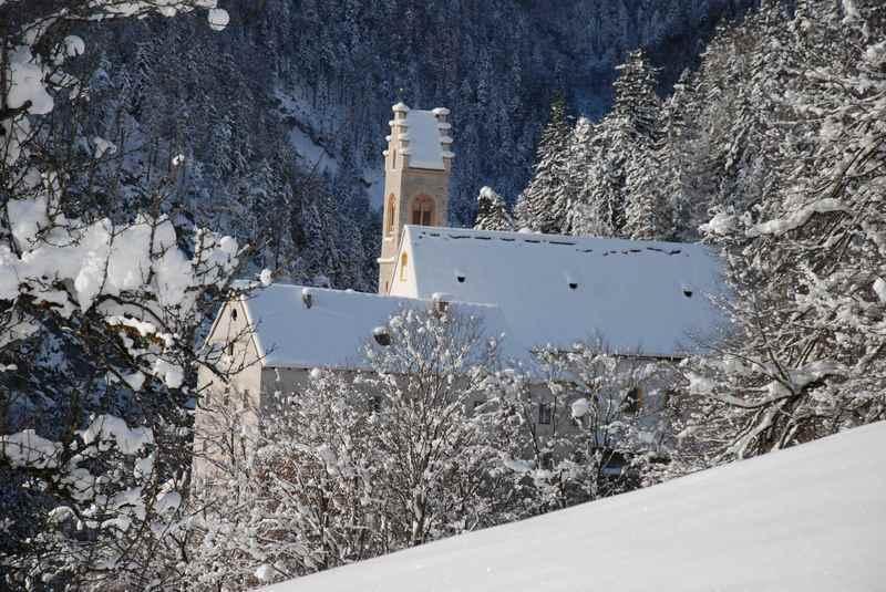 St. Georgenberg winterwandern ist wunderbar bei Neuschnee