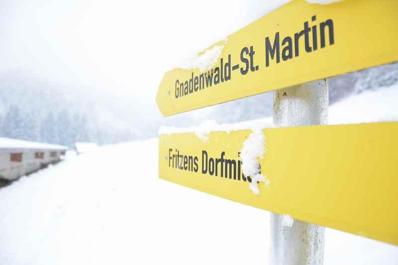 Winterwanderung Gnadenwald, am Fuße des Karwendel in Tirol