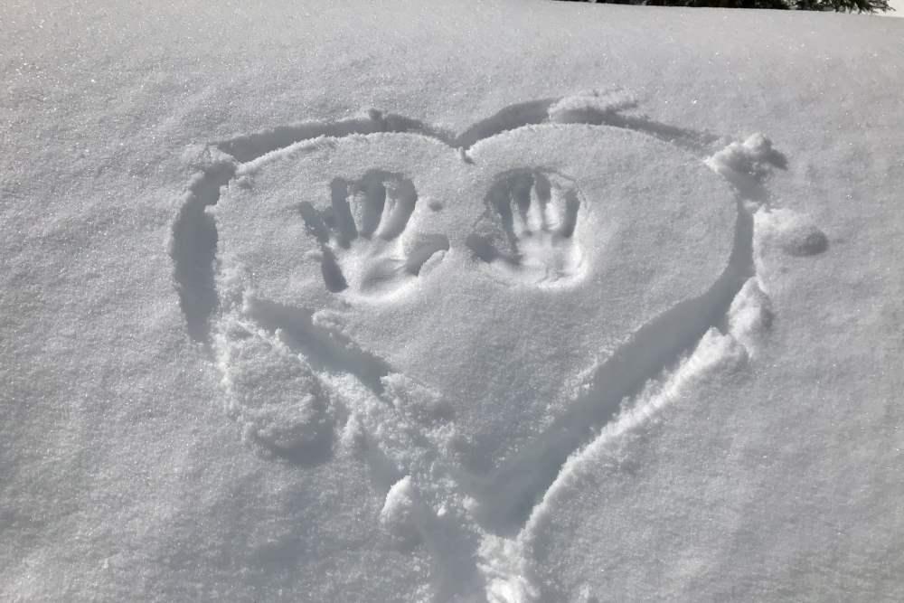 Schneevergnügen auf der mehrtägigen Winterwanderung