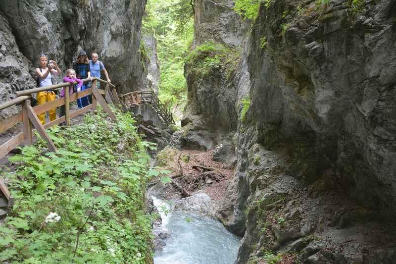Die Wolfsklamm zählt zu den beliebten Sehenswürdigkeiten in Tirol