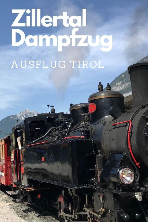 Der Zillertal Dampfzug - bekannt und beliebt, du kannst dir diesen Pin auf Pinterest merken