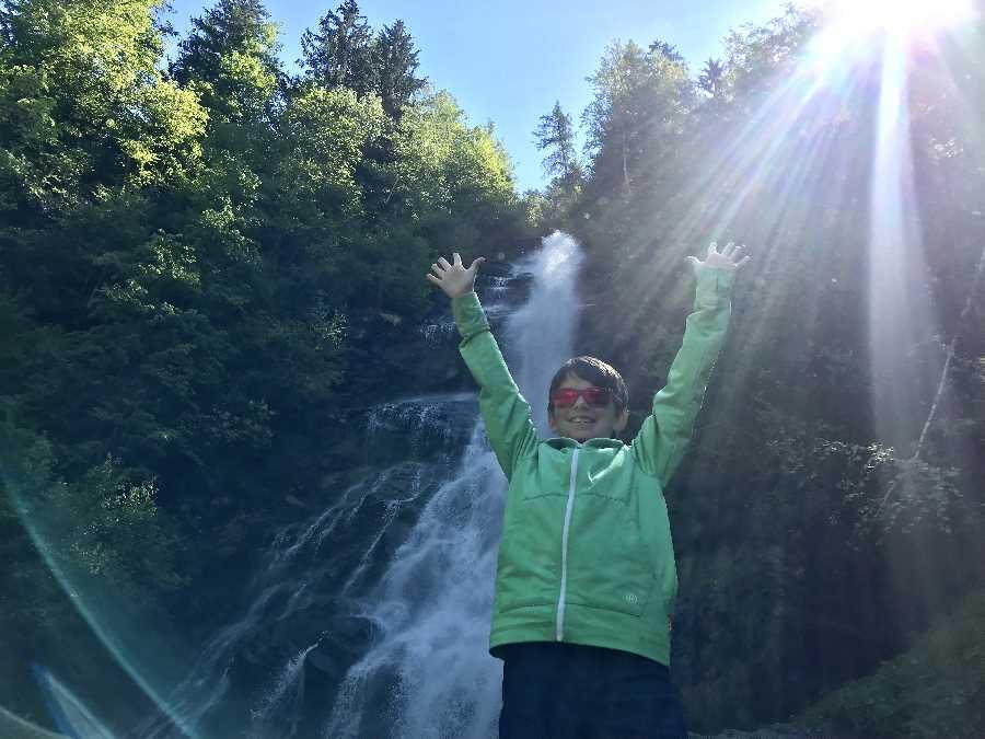 Der größte Zillertal Wasserfall - 91 Meter Fallhöhe, in Hart bei Fügen