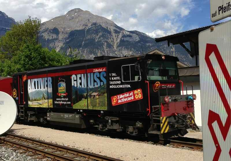 Die Zillertalbahn von Jenbach nach Mayrhofen in Tirol