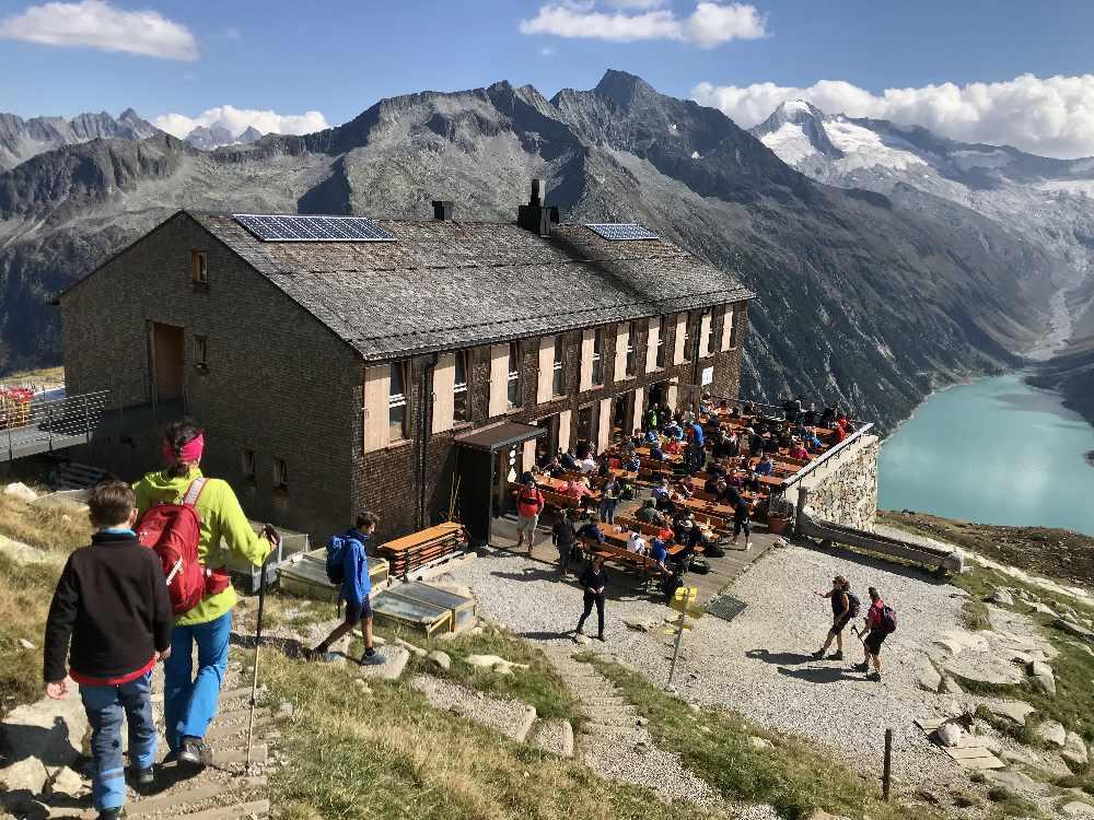 Der Schlegeisspeicher in den Zillertaler Alpen