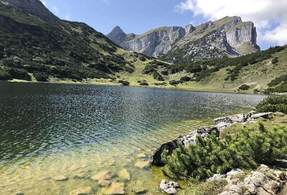 Zireiner See wandern - Mein Wanderziel im Rofan: Der Zireiner See mit der Rofanspitze
